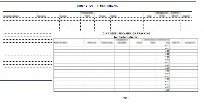 Joint Venture Tracking